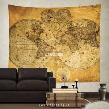 World Map Hemispheres by Wall Murals Wall Tapestries Canvas Wall Art Wall Decor Tagged