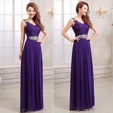purple lace bridesmaid dress shoulder straps v neck a line lace chiffon bridesmaid dress