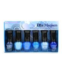 kleancolor nail polish set of 6 blue maniacs mini collection