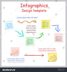 infographic report template board stickers vector stock vector