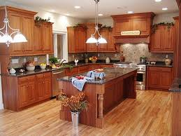 modern interior decorating small kitchen design with mahogany