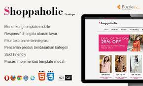 blogger template gratis shoppaholic boutique puzzle inc design