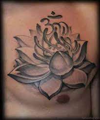 50 beautiful lotus tattoos on chest