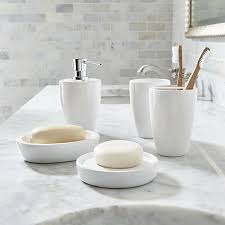 bathroom accessory ideas white bathroom accessories crate and barrel