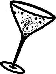 cocktail clipart black and white top martini glass cocktail clipart image drawing