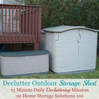 Backyard Storage Solutions Organize Outdoor U0026 Garden Storage Areas Challenge
