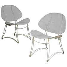 Vintage Homecrest Patio Furniture - modernist wrought iron clam shell chairs at 1stdibs