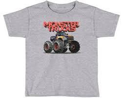 monster truck tee etsy