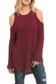 cold shoulder sweaters elan cold shoulder sweater from ohio shoptiques