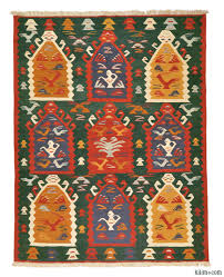 k0005827 green multicolor new turkish kilim rug kilim rugs