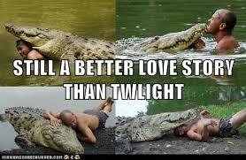 Alligator Memes - 20 better love stories than twilight pics smosh