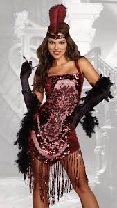 Showgirl Halloween Costumes Gatsby Flapper Halloween Costume