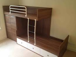 Bunk Bed Side Rails Bedroom Wood Bunk Bed With Storage Drawers And Cupboard