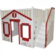storybook cottage loft bed red