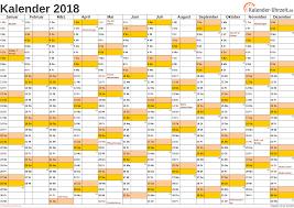 Kalender 2018 Hessen Ausdrucken Kalender 2018 Mit Feiertagen