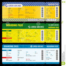 airline boarding pass modern tickets vector mockup stock vector