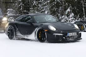 porsche 911 snow porsche 911 gt3 rs spied winter testing auto express