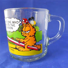 vintage anchor hocking garfield mcdonald u0027s coffee glass mug cup