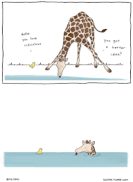awkward everyday lives of animals by simpsons illustrator liz