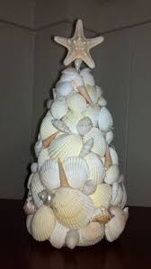 tree decorated with sea shells christmasonthecape