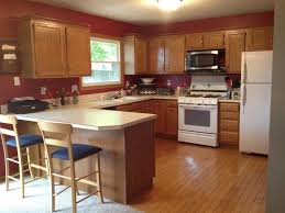 glass countertops kitchen paint colors with honey oak cabinets