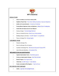 Health And Wellness Worksheets For Wellness Fitness Initiative Implementation