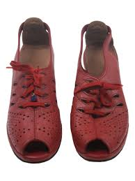 retro ferrari shoes retro 1940s shoes late 40s casual comfort womens red pebble