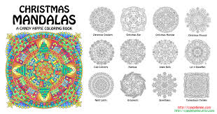 christmas mandalas coloring book by candy hippie on deviantart