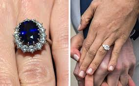 kate s wedding ring how meghan markle s engagement ring compares to kate middleton s