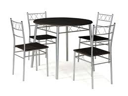 table ronde de cuisine table ronde 4 chaises lota wengue gris