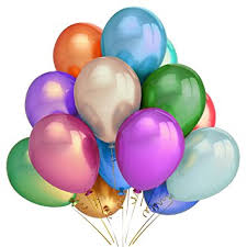 birthday helium balloons 300 assorted color party balloons 12 inch premium