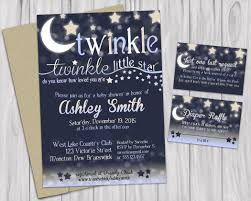Brooklyn Baby Shower - twinkle little star baby shower printable invitations book request
