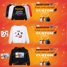 custom hoodies logo text photo print men women kids personalized