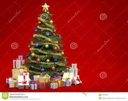 christmas tree on red background stock photo image 16230350