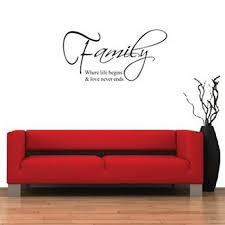 familiensprüche englisch familie englisch quote kinder wandaufkleber wohnzimmer tv sofa