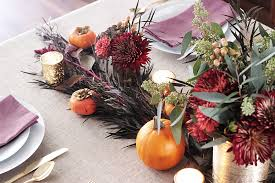 thanksgiving table centerpiece diy erika brechtel flowers persimmon