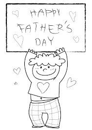 happy fathers day coloring pages free large images