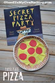 paper plate pizza kid craft pizza party preschool education