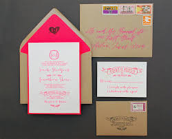 Wedding Invitation Card Diy Diy Tutorial Neon Kraft Paper Wedding Invitations