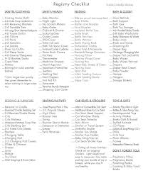 list of baby shower baby shower registry list ideas best 25 ba registry checklist