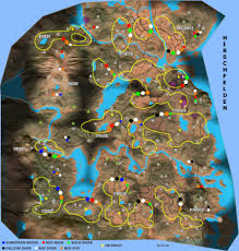 Elk Population Map Hunter Call Of The Wild Animal Locations Map