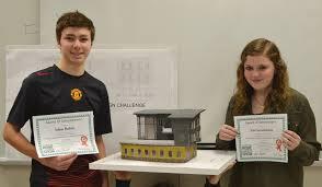 orange high team places in student model home design