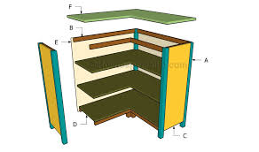 corner bookcase plans howtospecialist how to build step by