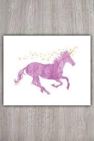 unicorn print unicorn art unicorn watercolour little girls room