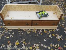 Turning Dresser Into Bookshelf Repurposed Dresser Bench My Repurposed Life