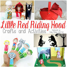 red riding hood crafts activities easy peasy fun
