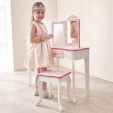 Vanity And Stool Set Table Foxy Teamson Kids Fashion Prints Vanity Table And Stool Set