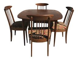 lenoir broyhill mid century modern dining set table u0026 4 chairs