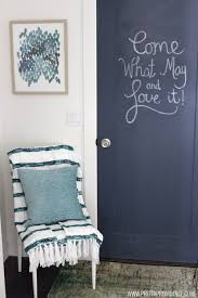 how to paint a chalkboard door