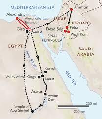 Sinai Peninsula On World Map by Pyramids To Petra Itinerary U0026 Map Wilderness Travel